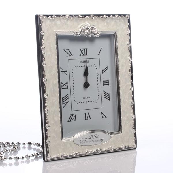 25th Anniversary Clock - Silver Wedding Anniversary Gifts