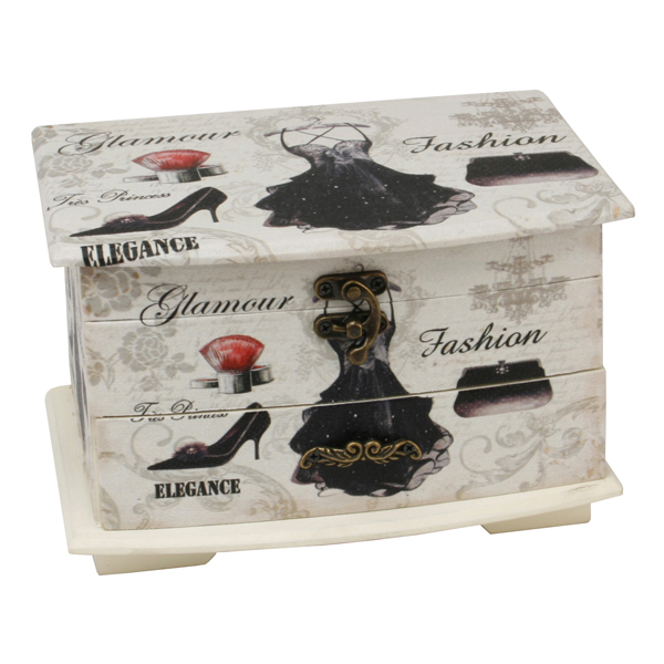Shabby Chic Little Black Dress Jewellery Box - Dress Gifts