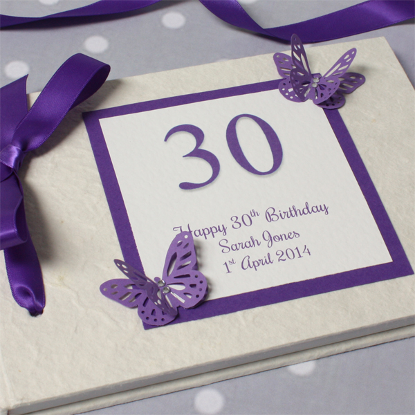 Personalised 30th Birthday Photo Album - 30th gift