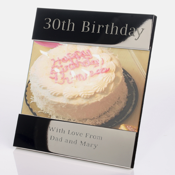 Engraved 30th Birthday Photo Frame