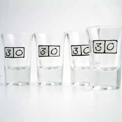 Age Shot Glasses 30