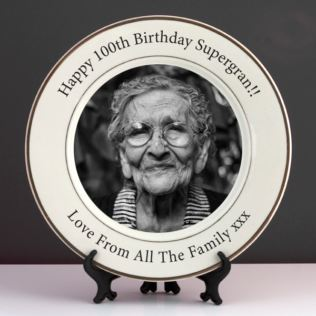 Personalised 100th Birthday Photo Plate Product Image