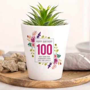 Personalised 100th Birthday Plant Pot Product Image