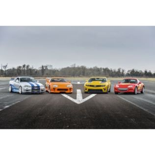 Triple Movie Muscle Car Driving Blast Product Image