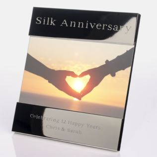 Engraved 12th (Silk) Anniversary Photo Frame Product Image