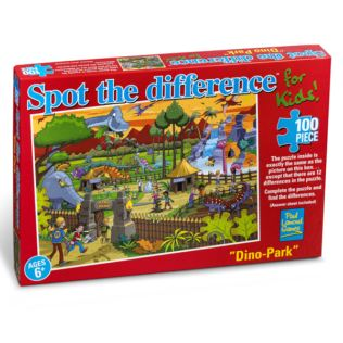 Dinosaur Park - Spot The Difference 100pc Jigsaw Product Image