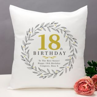 Personalised 18th Birthday Cushion Product Image