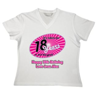 18 Years Personalised Birthday T-Shirt Product Image
