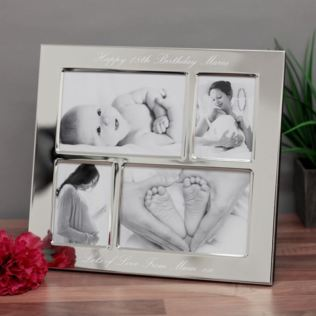 18th Birthday Engraved Collage Photo Frame Product Image