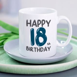 Personalised 18th Birthday Mug Blue Product Image