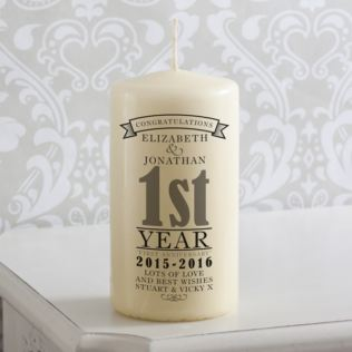 Personalised 1st Anniversary Candle Product Image