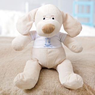 Personalised 1st Birthday Puppy Soft Toy - Boy Product Image
