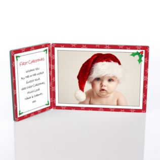 First Christmas Photo Message Plaque Product Image