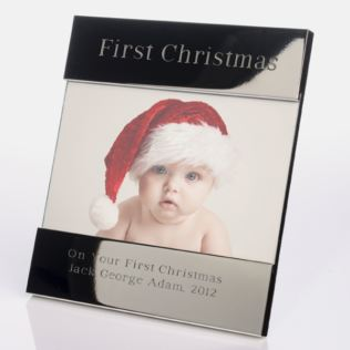 Engraved Baby's First Christmas Photo Frame Product Image