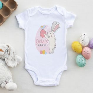 Personalised My 1st Easter Bunny Baby Grow Product Image