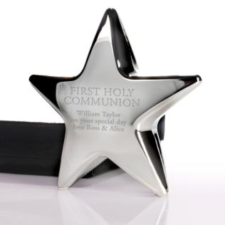 Personalised First Holy Communion Star Paperweight Product Image