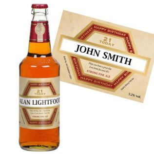 21st Birthday Personalised Bottle of Beer Product Image