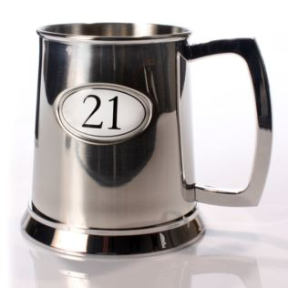 Personalised Age 21 Pint Tankard Product Image