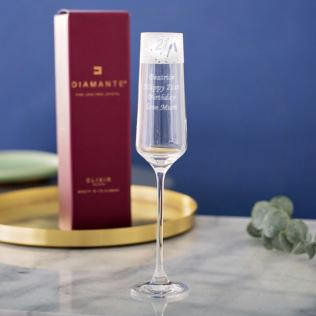 Personalised 21 Frieze Design Champagne Flute Product Image