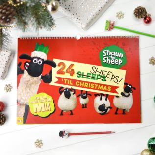 Personalised Shaun the Sheep '24 Sheeps' Activity Advent Calendar Product Image
