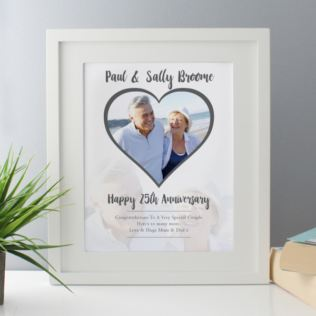 Personalised Silver Anniversary Framed Photo Print Product Image
