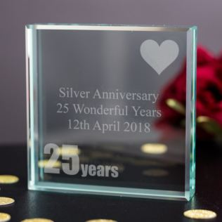 25th (Silver) Anniversary Keepsake Product Image