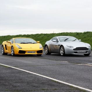 Lamborghini and Aston Martin Driving Blast Product Image