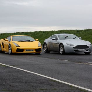 Lamborghini and Aston Martin Driving Thrill with Passenger Ride Product Image