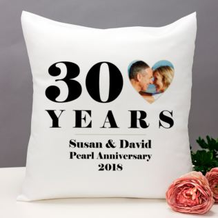 Personalised 30th Wedding Anniversary Photo Cushion Product Image