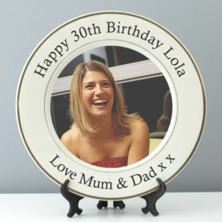 Personalised 30th Birthday Photo Plate Product Image
