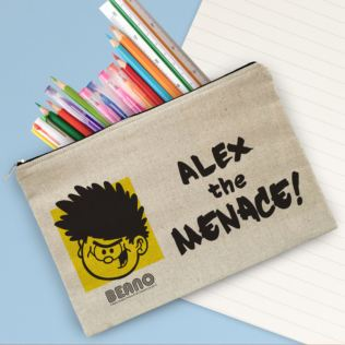 Personalised Beano Big Heads Dennis Canvas Pencil Case Product Image