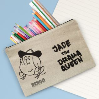 Personalised Beano Big Heads Minnie Canvas Pencil Case Product Image