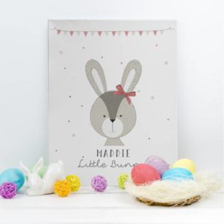 Personalised Little Bunny Pink Canvas Product Image