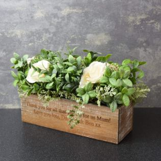 Personalised Artificial Wooden Flower Box Product Image