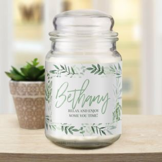 Any Name Personalised Floral Candle Jar Product Image