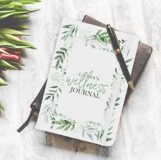 Personalised Floral Wellness Journal Product Image