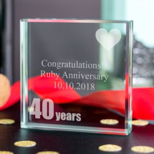 40th (Ruby) Anniversary Keepsake Product Image