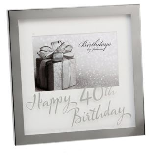 Happy 40th Birthday Photo Frame Product Image