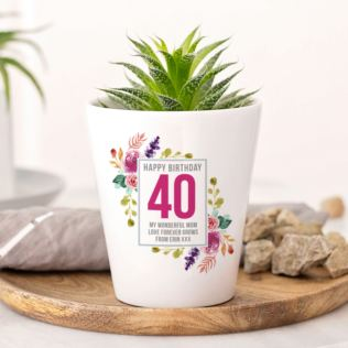 Personalised 40th Birthday Plant Pot Product Image
