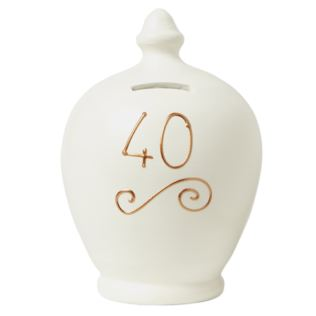 40th Birthday Personalised Terramundi Money Pot Product Image