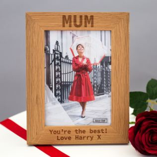 Personalised New England Oak 5 x 7 Photo Frame Product Image