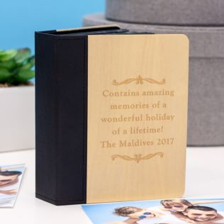 Luxury Personalised Maple Wood Mini Photo Album Product Image