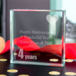 4th (Linen) Anniversary Keepsake Product Image