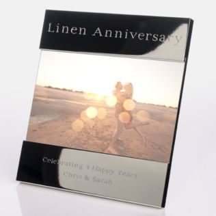 Engraved 4th (Linen) Anniversary Photo Frame Product Image