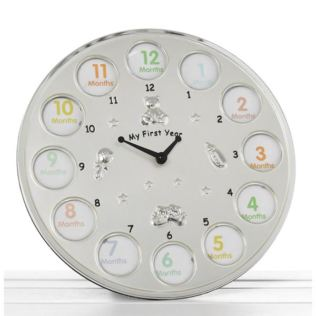 Two Tone My First Year Clock Product Image