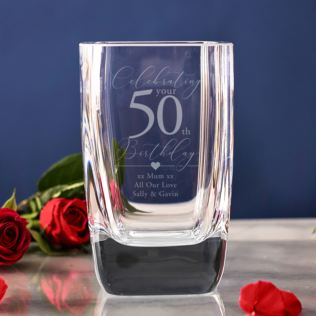 Personalised 50th Birthday Vase Product Image
