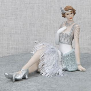 Gatsby Girls Figurine Sitting - Evelyn Product Image