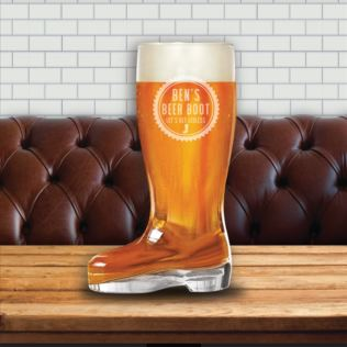 Personalised Glass Beer Boot Product Image