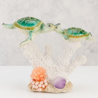 Naturecraft Collection Resin Figurine - 2 Turtles Swimming Product Image