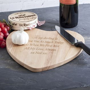 Personalised Heart Chopping Board Product Image
